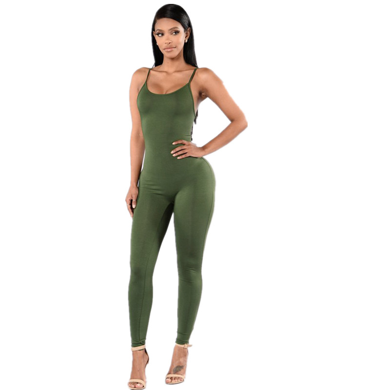 New 2019 Summer Fashion Tight-fitting Cute Multicolor Women Rompers Spaghetti Strap Halter Solid Bodycon Women   Jumpsuits