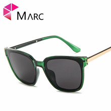 MARC Korean version Cat  sunglasses men and women fashion Plastic personality transparent trend glasses