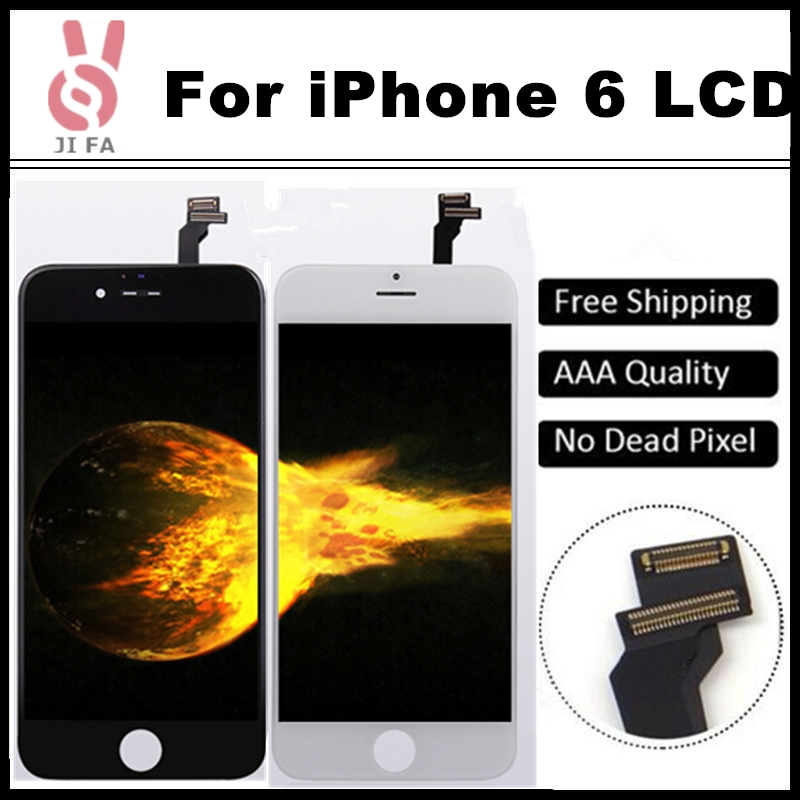 10PCS No Dead Pixel Grade AAA 4.7 inch LCD For iPhone 6 Display touch screen with digitizer assembly pantalla ecran Free DHL 5pcs lot grade aaa no dead pixel for iphone 6 plus lcd display with touch screen digitizer assembly black