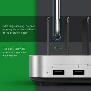 Image 4 - SeenDa 5 יציאות USB טעינת תחנת Dock עם מחזיק 50W 10A שולחן העבודה USB מטען לטלפון נייד Tablet טעינה dock ארגונית