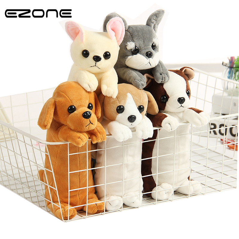 EZONE 1PC Kawaii Cartoon Plush Toy Dog Pencil Case Cute Animal Pen Bag Box Stuffed Animal Doll Gift School Supplies Stationery