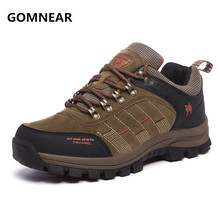 GOMNEAR Sneakers For Men Breathable Hiking Shoes Male Outdoor Antiskid Wear-resisting Walking Trekking Jogging Tourism Boots