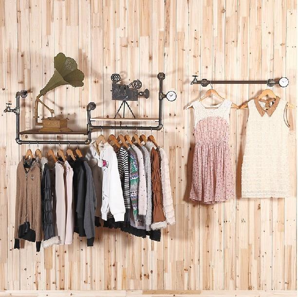 Retro Top Clothing Rack Clothing Store Display Hanger