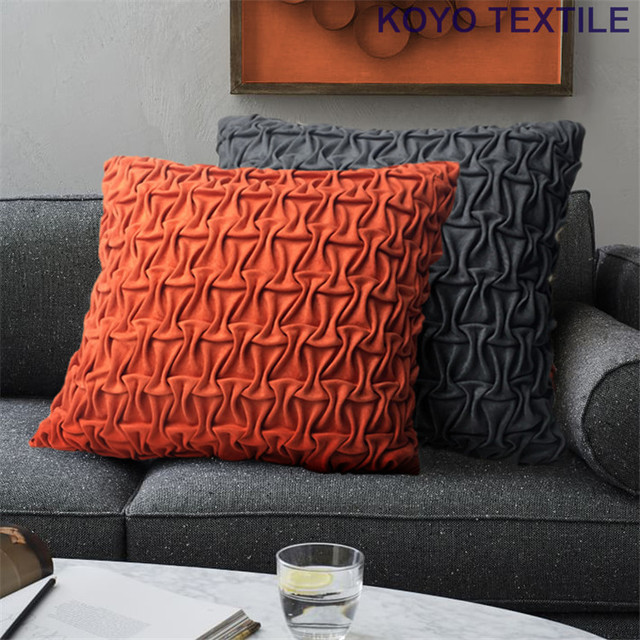 Faux Suede Sofa Cleaning Instructions Mart Dream Modern Fashion Luxury Decorative Handmade Pintuck Pleated Geometry 3d Cushion Cover Throw Pillow Case