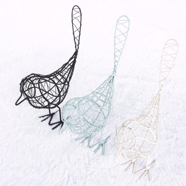 Neue Drei Farben Metall handwerk Draht Eisen Vogel Modell Dekorative ...