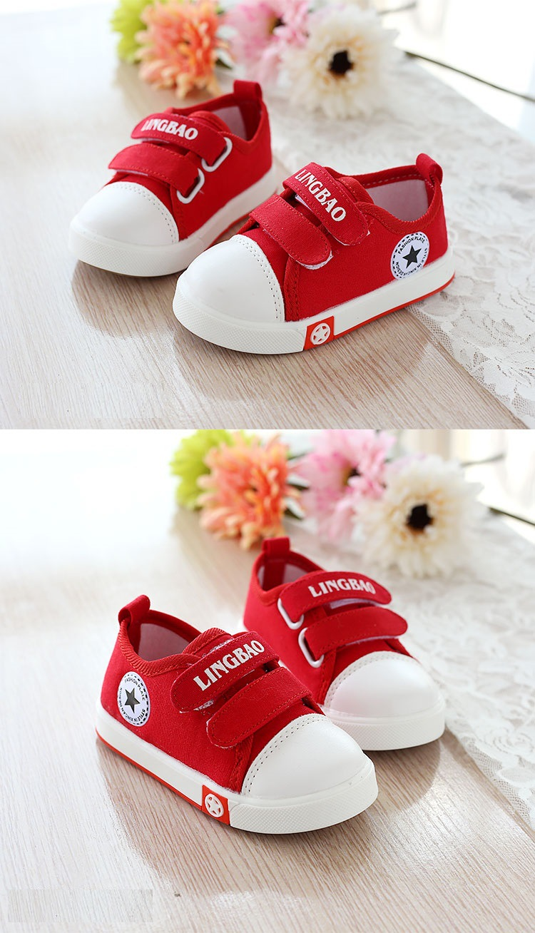Kids Casual Shoes Autumn Fashion Stars Children Sneakers for Baby boys girls Canvas shoes 17 New Spring size 21~30 5