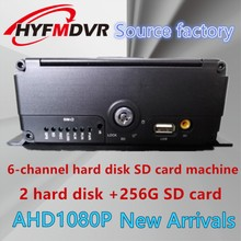HYFMDVR AHD 6-channel 1080P 2 million-pixel MDVR hard disk monitoring host supports multi-language factory direct sales