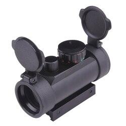 Lente holográfica Rifle Airsoft Gun Red Dot Riflescope Tático Caça Red Green Dot Sight Scope para Rifle Shotgun