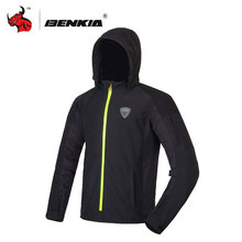 BENKIA Motorcycle Racing Jacket The Winter Riding Windbreaker Protecciones Motocross Roupa Motoqueiro Motorcycle Jacket With Hat