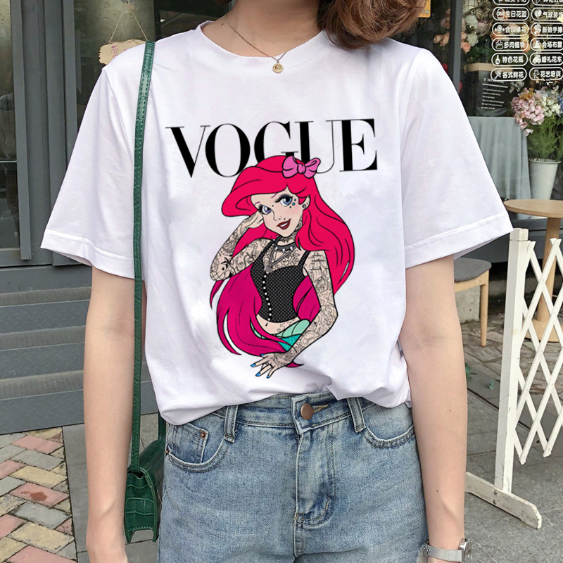 New Graphic Vogue T Shirt Women Fashion Harajuku Ullzang Cartoon T-shirt Funny Printed 90s Tshirt Korean Style Top Tees Female 13