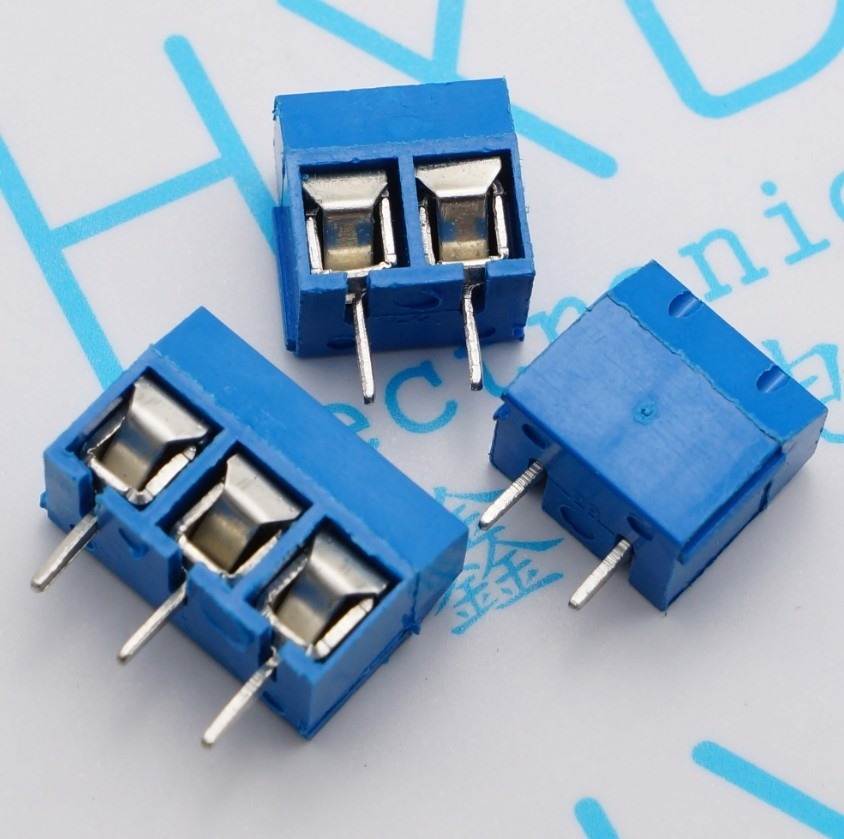 20pcs KF301-5.0-2P KF301-3P Pitch 5.0mm KF301-2P Straight Pin PCB 2 Pin 3 Pin Screw Terminal Block Connector