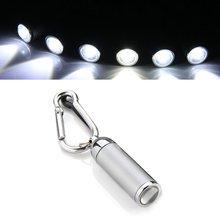 FSLH Outdoor Fishing LED Mini Flashlight Torch Carabiner Keychain