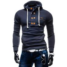 ZOGAA New Leisure Fashion Hooded Mens Hoodies Boys Hodies Sportswear Classic Lace-up Sweatshirt