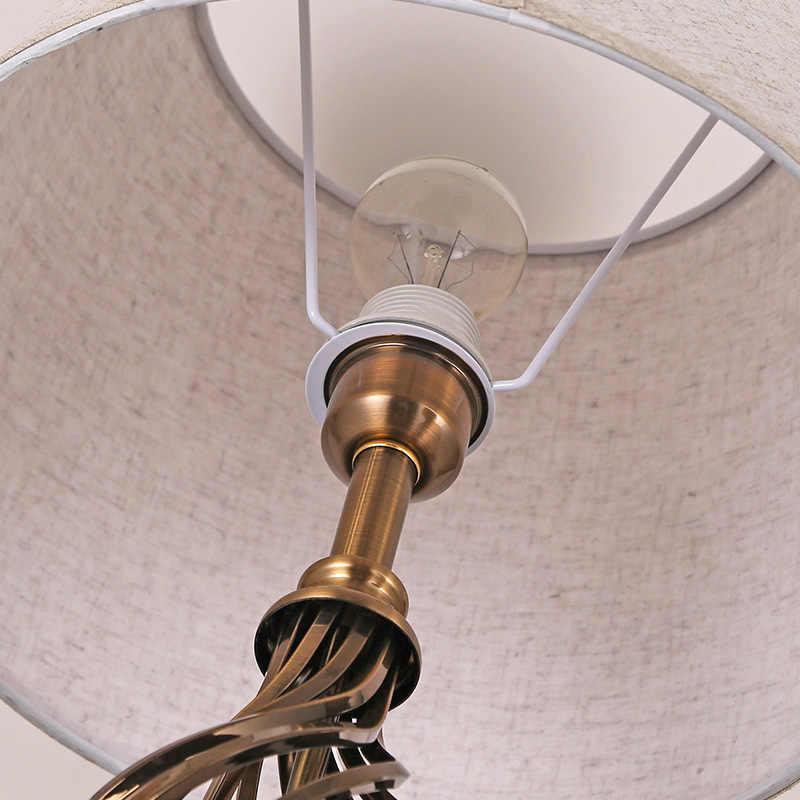 Китайский стол свет для спальни гостиной прикроватная тумбочка свет отель офисная настольная лампа ткань E27 декоративное освещение блестящая гирлянда