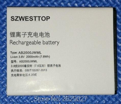 SZWESTTOP d'origine AB2000JWML batterie Pour philips S337 téléphone portable AB2000JWMT Batterie pour XENIUM CTS337 téléphone intelligent