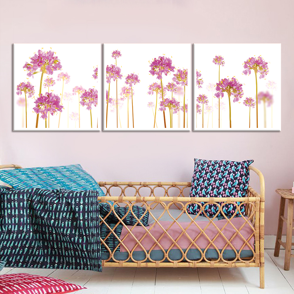 Drop shipping canvas print oil painting pink flower painting canvas wall pictures for living - Drop shipping home decor plan ...