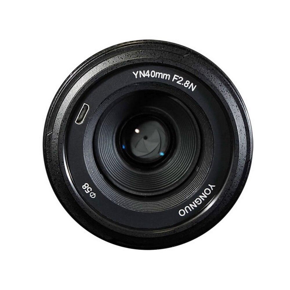Objectif YONGNUO 40 MM YN40mm F2.8N F2.8N objectif Standard léger pour Nikon d5300 d3400 d7200 d3100 d3200 d5100 appareils photo reflex numériques