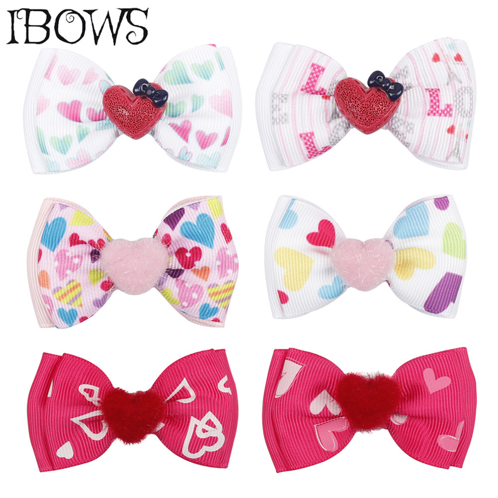 6Pcs Cute Girls Toddler Kids Ribbon Bow Hair Pin Clips Hair Grips Accessories