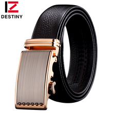 DESTINY 2017 new style automatic belt men high quality top cow genuine leather luxury strap male Simple business brand designer