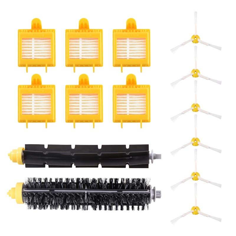 Hepa Filter + Side Brush + Bristle Beater Brush Kit For IRobot Roomba 700 Series 760 770 780 790 Robot Vacuum Cleaner Parts