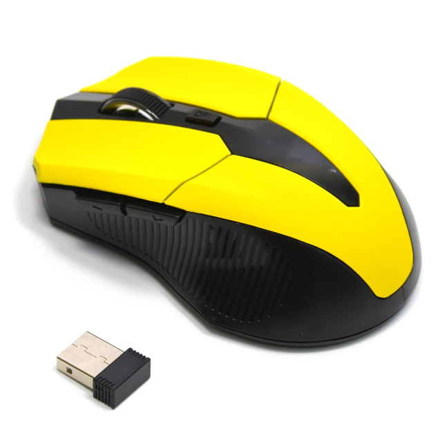 New Hot 2.4G USB Red Optical Wireless Mouse 3