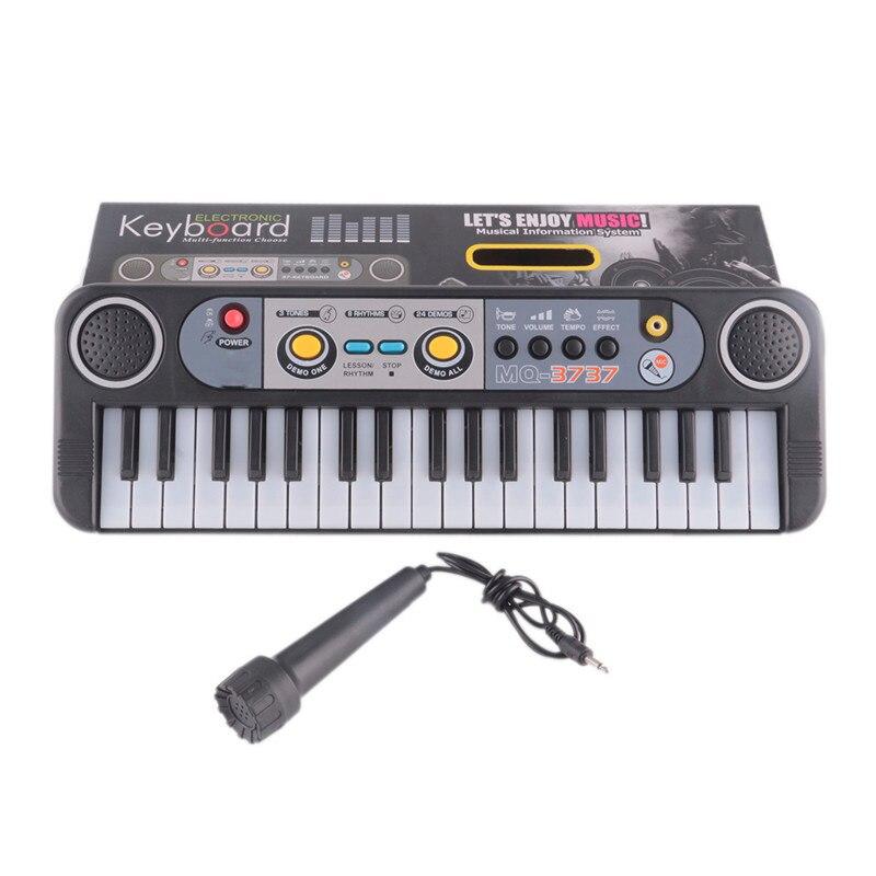 Instrumentos musicais Brinquedos Com Microfone Iniciantes Aprendendo Brinquedos Educativos Para Crianças Presentes Mini 37 Teclas do Teclado Electone