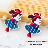50pcs/lot New Cartoon Little Mouse Resin Flatback DIY Craft Resine Kawaii Planar Resin for Home Decoration Accessories DL-508