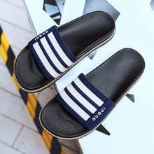 Mens Slippers Home Slides Men Flip Flops Bathroom Slippers Non-slip Flat Outdoor Beach Slippers Indoor Mens Shoes цены онлайн