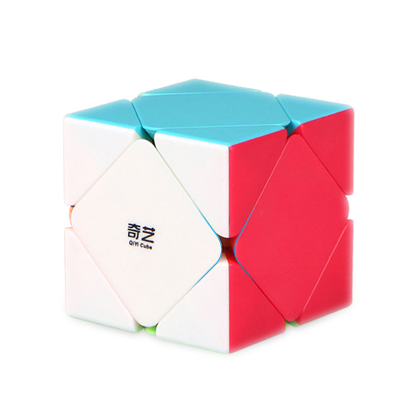 QiYi QiCheng Skewb Speed Magic Cube 2 on 2 Speed Cube Square Toys Brain Teaser Cubo Magico New Year Christmas Gifts For Children