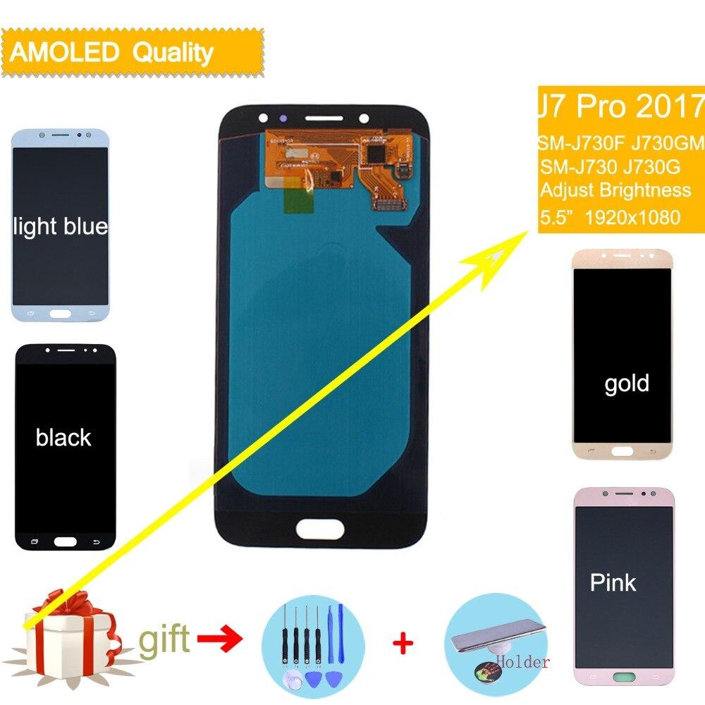 Pour SAMSUNG Galaxy J7 Pro 2017 LCD Affichage à L'écran Tactile Assemblée Complet J730 J730F pour SAMSUNG J7 Pro LCD D'origine digitizer