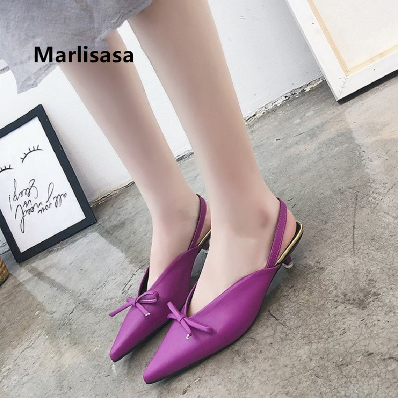 Marlisasa Vrouwen Pompen Lady Cute High Quality Purple Pu Leather Pointed Toe Pumps Women Casual Black Spring Summer Shoes F5018Marlisasa Vrouwen Pompen Lady Cute High Quality Purple Pu Leather Pointed Toe Pumps Women Casual Black Spring Summer Shoes F5018