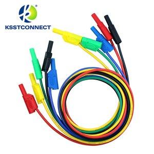 Image 2 - Fil de test en silicone flexible, de haute qualité, 13AWG, fil plaqué Nickel, fiche banane empilable, 4mm, TL440, 1.0 mètres