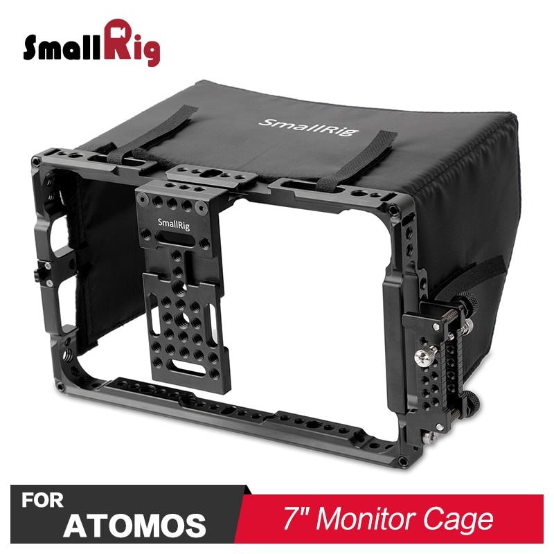 SmallRig Cage for Atomos 7 Monitor with Sunhood for Ninja flame Shogun flame Shogun Inferno Ninja