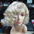 Marilyn Monroe Blonde Wig Synthetic Short Wigs For Black/White Women Natural Blonde Curly Wig Cosplay Cheap Hair Wigs For Women