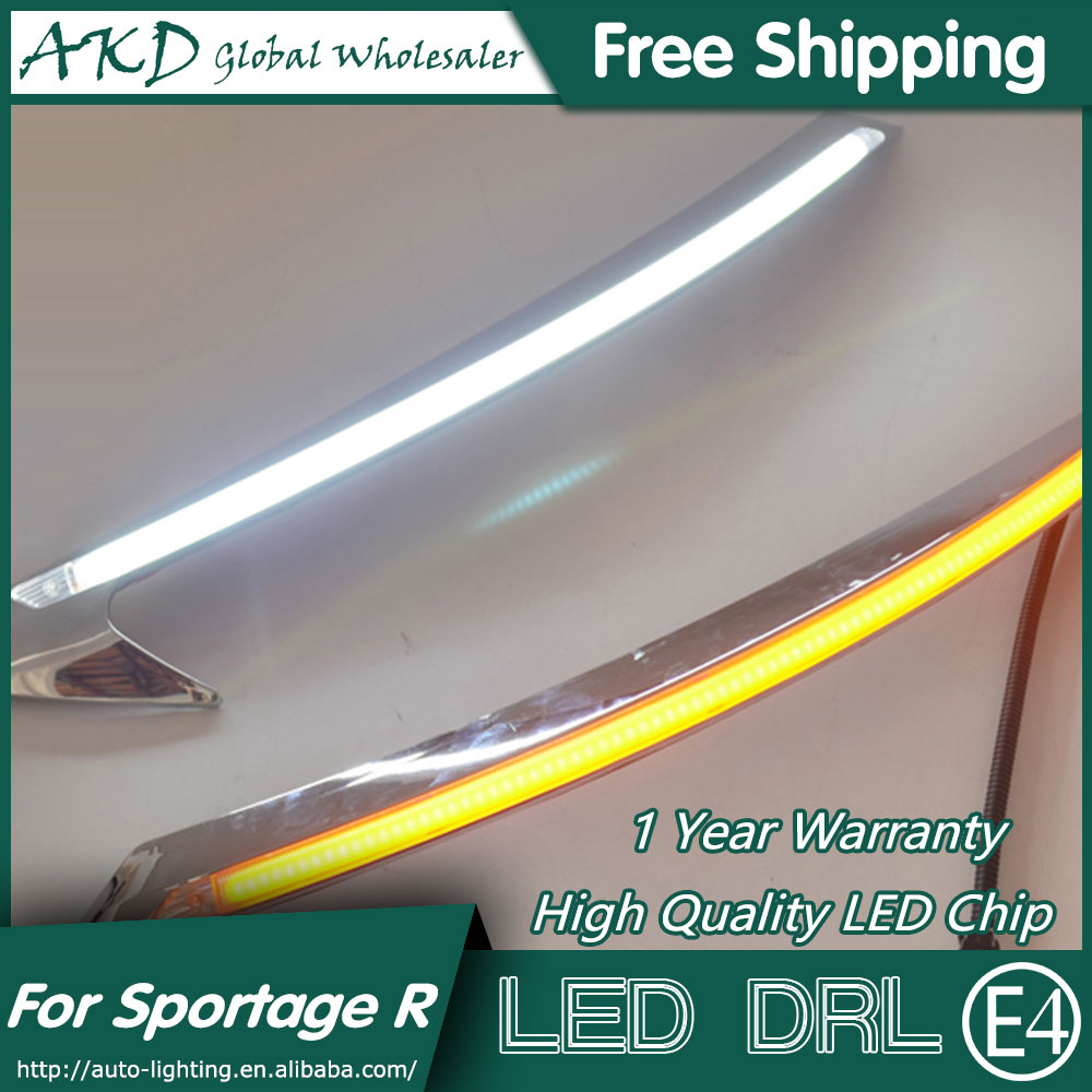 AKD Car Styling LED DRL for Kia Sportage R 2010-2014 SportageR Eye Brow Light LED External Lamp Signal Parking Accessories for kia sportage r led tail lamp