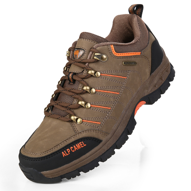 Free Shipping 2015 Fashion Genuine Leather Outdoor Hiking Boots Men Boots Hiking Shoes Camping Sport Shoes  Brand Shoes