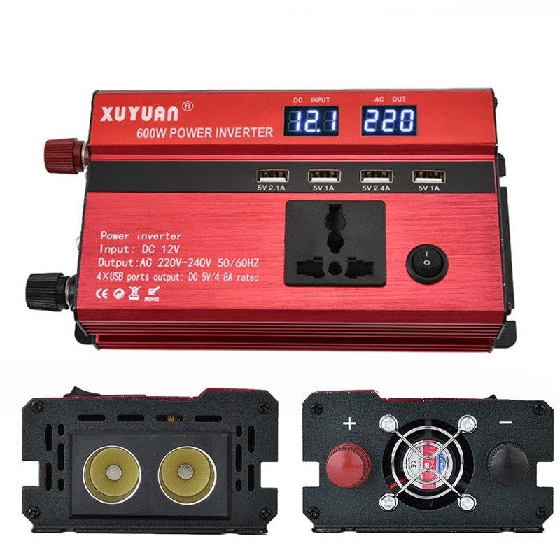 Do Promotion! Car Inverter LED Display Electric Cigarette Holder Conversion 12v to 110v/600w Inverter