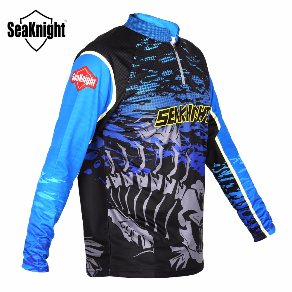 Seaknight sk006 new fishing clothes long sleeve stand for 13 fishing apparel