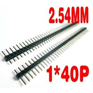 Image 2 - 200 pcs/lot 40P mâle simple rangée broche en tête bande PCB mâle IC connecteur broche en tête 1*40P 2.54mm 1X40 P/1*40 mâle broche en tête