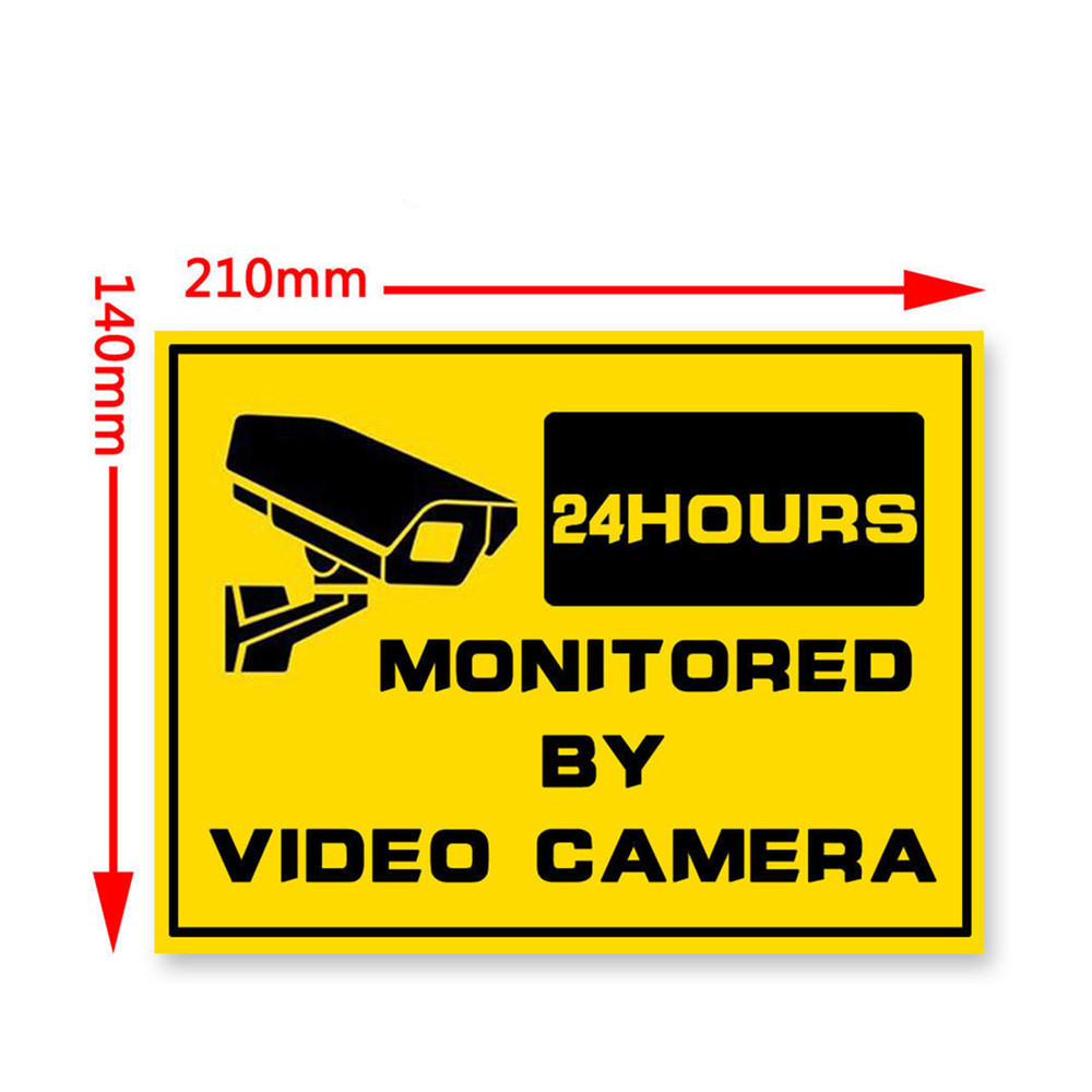 Image 4 - 1pcs Waterproof Home CCTV Video Surveillance Security Camera Security Home Alarm Sticker Warning Decal Signs-in Warning Tape from Security & Protection