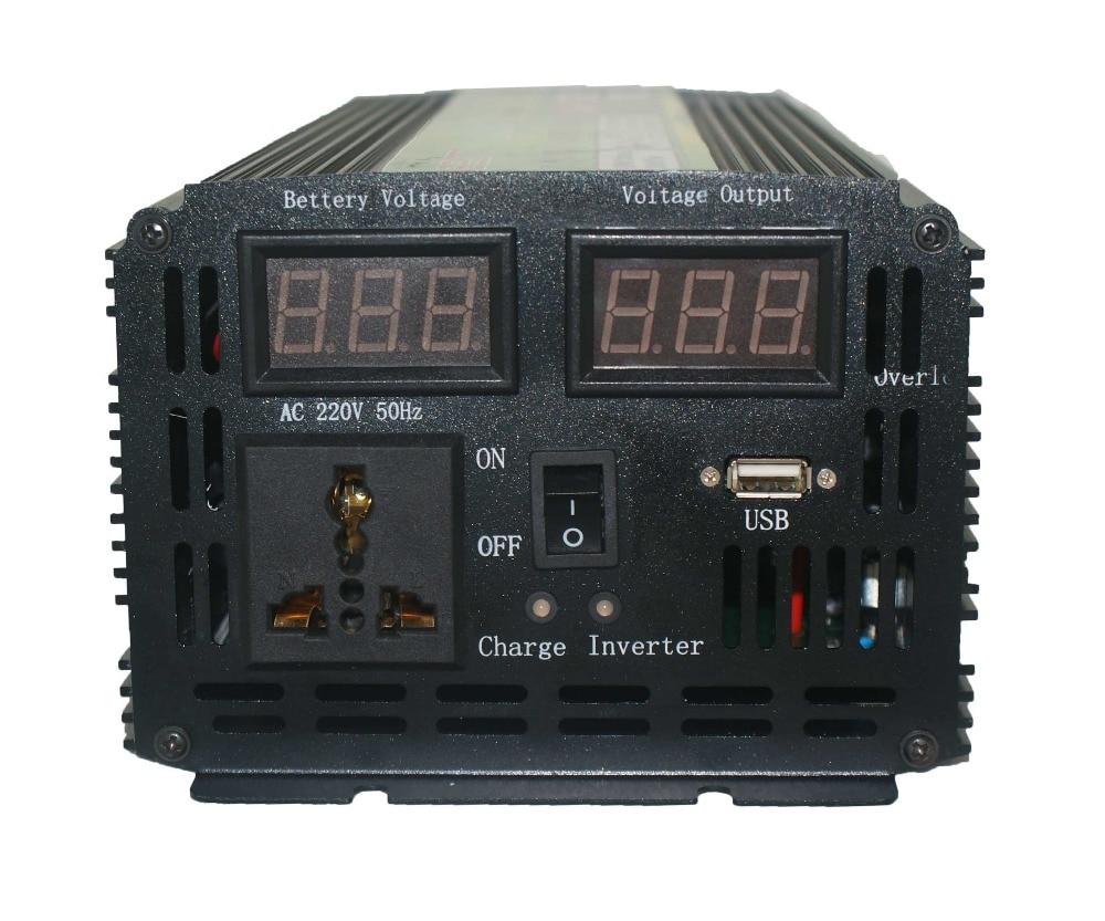 Бесплатная доставка dc12v к ac220v 1500 Вт автоматический выключатель инвертор со встроенным зарядное устройство Тайвань модель