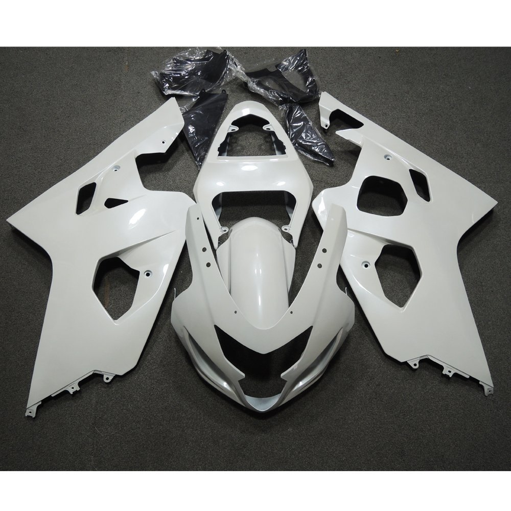 Motorcycle Injection White Painted Graphic Fairing Kit for Suzuki GSXR 600 750 GSX-R K4 2004-2005
