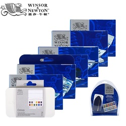 WINSOR&NEWTON Solid Watercolor Paints 8/12/24/36/45 Colors Painter Water color Art Drawing Supplies