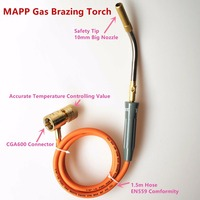 Brazing Torch Of MAPP Propane Gas 1 5m Hose For Brazing Soldering Welding Heating Application Can