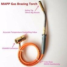 Lutowania Latarka z MAPP/Gazu Propan 1.5 m Wąż do Lutowania Spawanie Lutowanie Aplikacji Ogrzewania może być również używany HVAC Hydraulika