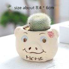 Pig Head Pot Concrete Silicone Mold for flowerpot vase making Succulent Plants Cactus Planter Cement Molds
