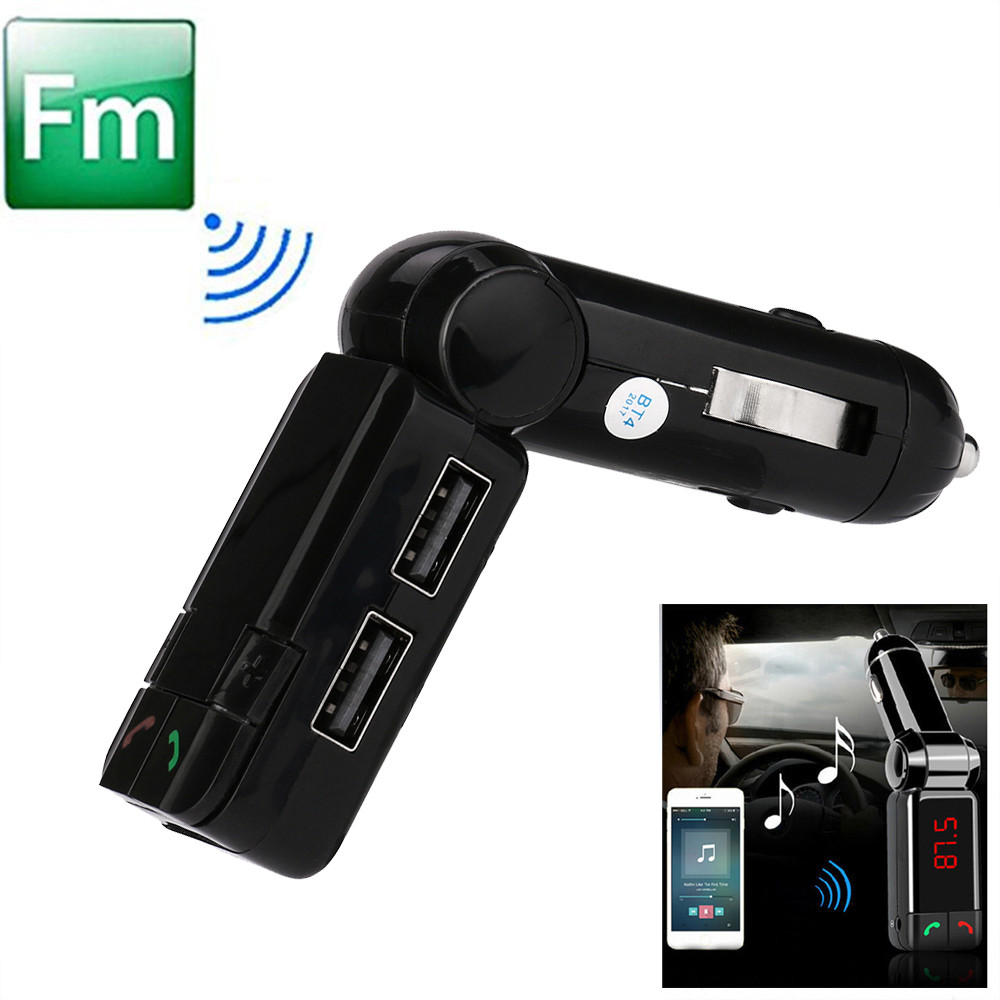 Hot Dual USB Car Kit Mp3 Player High Quality Wireless Bluetooth Stereo MP3 Player FM Transmitter built-in Microphone #SS