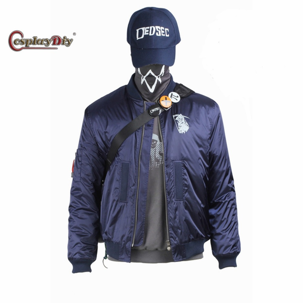 Cosplaydiy Watch Dogs 2 Marcus Holloway Top Cosplay Costume For Adult Men Cosplay Outfit Custom Made J5