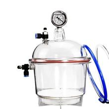 150 мм поликарбонатная пластиковая Вакуумная сушилка лабораторный осушитель вакуумная сушильная сушилка двойной клапан с манометром Y