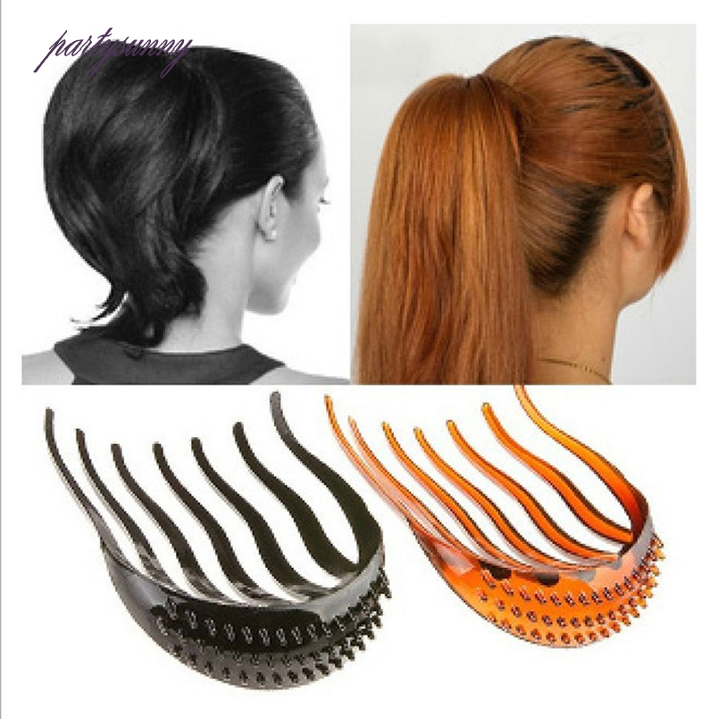PF Horsetail Combs Plate Hair Bumpits Invisible Comb Hair Accessories for Women Elegant Korea Fluffy Headwear Decoration TS0856